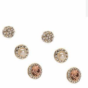 Kellie & Katie crystal earrings set 3 pack